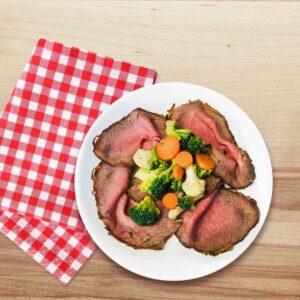 Roast beef cu legume, 250 gr