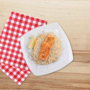 Somon cu orez afumat, 250 gr