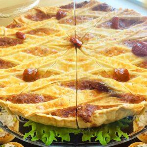 Tarta cu mozzarella si prosciutto cotto, 1.3 kg