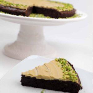 Tarta de ciocolata si fistic, 150 gr