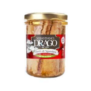 File de macrou in ulei de masline picant, 200 gr