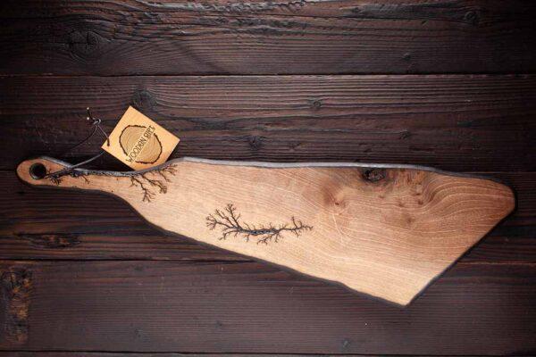 Platou din lemn de nuc