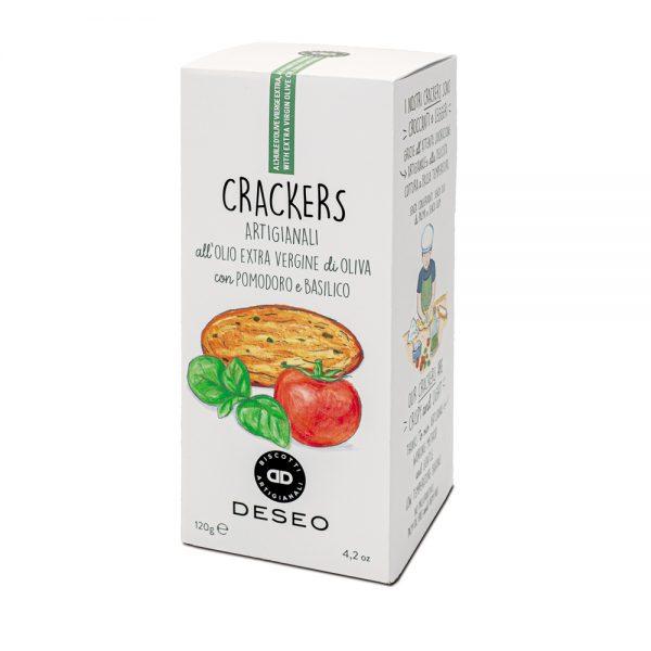 Crackers cu rosii si busuioc