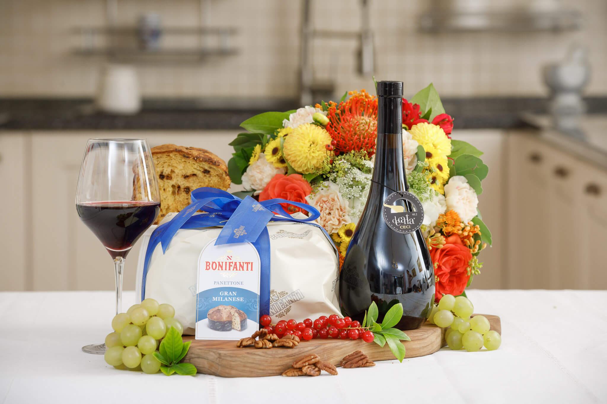 Cadou, Panettone & Vino Rosso