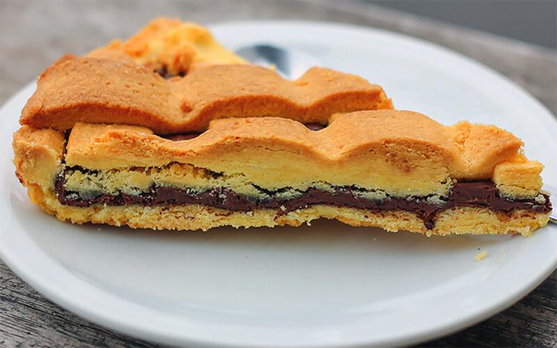 Crostata cu crema torroncini