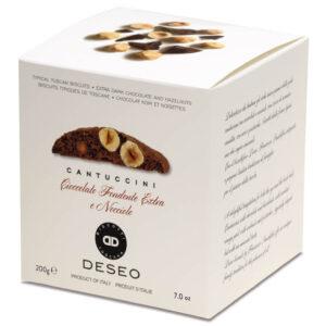 Cantuccini cu ciocolata fondanta si alune de padure IGP, 200 gr