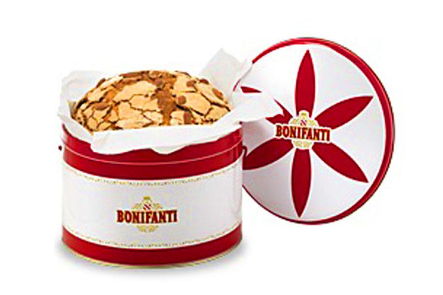 panettone milanese classico glassato 1 kg latta 819