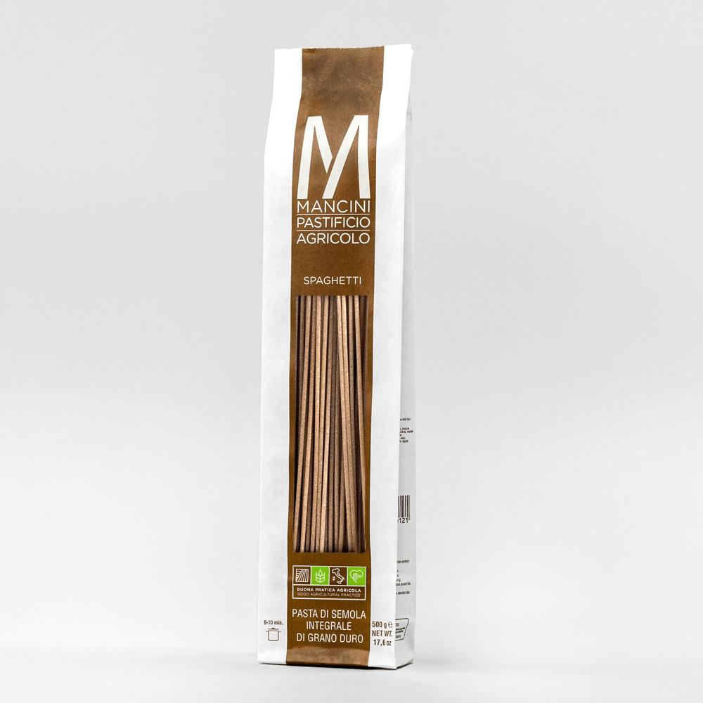 Spaghetti BIO din grau dur integral, 500 gr