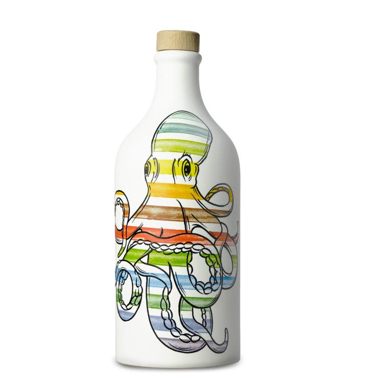 Ulei de masline in sticla ceramica Octopus