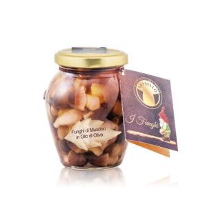 Ciuperci de Muschi de Padure in Ulei de Masline, 280 gr. – Sassello