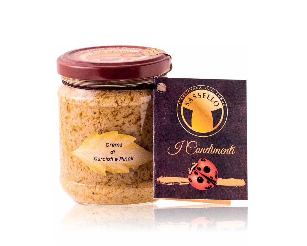 crema de anghinare si muguri de pin 180 gr sassello 875